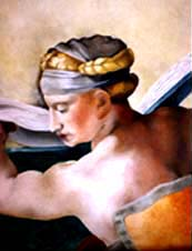 Reproduction of Michelangelo's Libyan Sibyl,Oil, 22x28