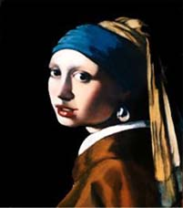 Reproduction of Vermeer, The Girl with the Pearl Earring, Oil, 16x20